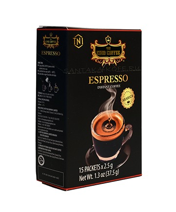 "KING COFFEE Кофе растворимый ""Espresso"", 15 стиков х 2,5 г"
